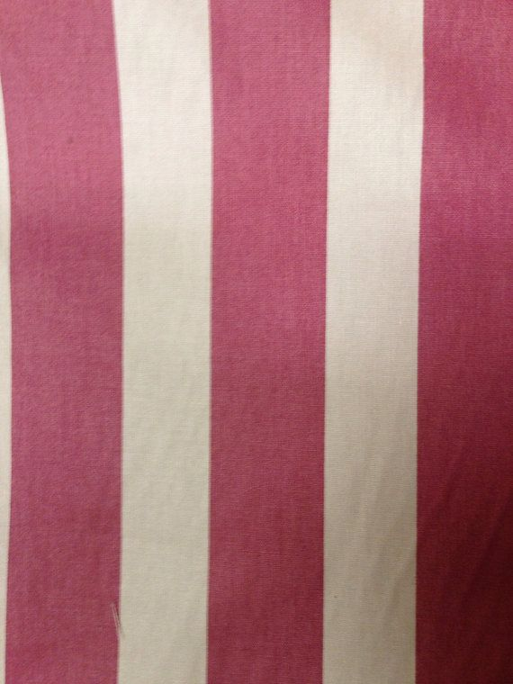 Pink And White Wide Stripe Fabric Upholstery By Shopmyfabrics