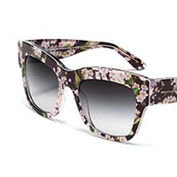 Women s flowers and black acetate glasses with oversize frame by Dolce 544063b4ba