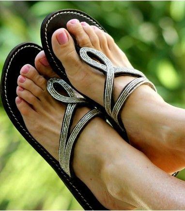 Aspiga Nyali Heel Silver beaded leather sandal was £45 now £31.50  (SAVE 30%)