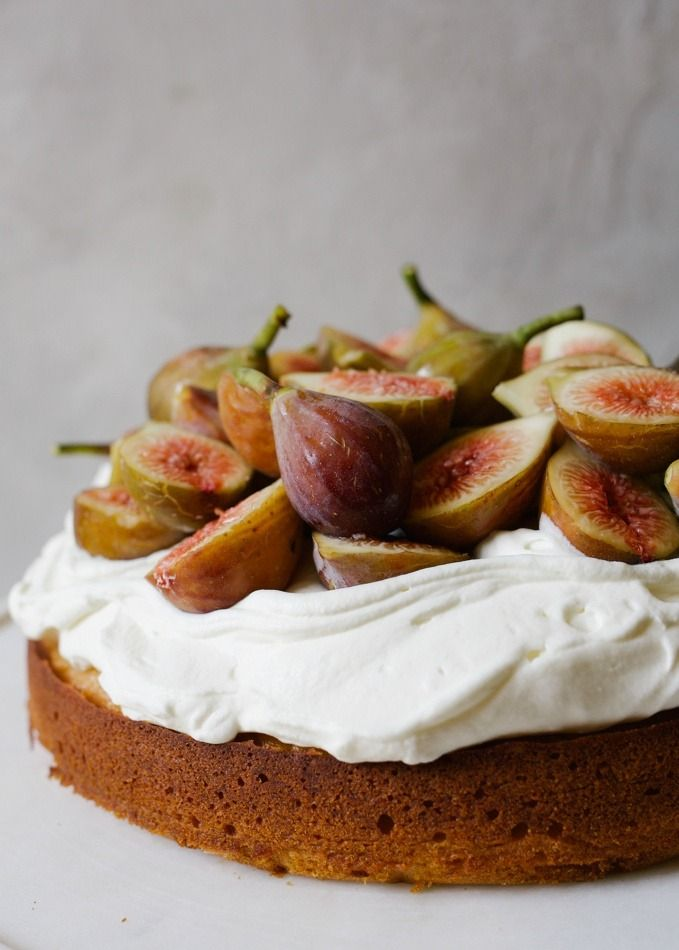 Honey Cake with Figs and Whipped Cream Cheese - Wood & Spoon