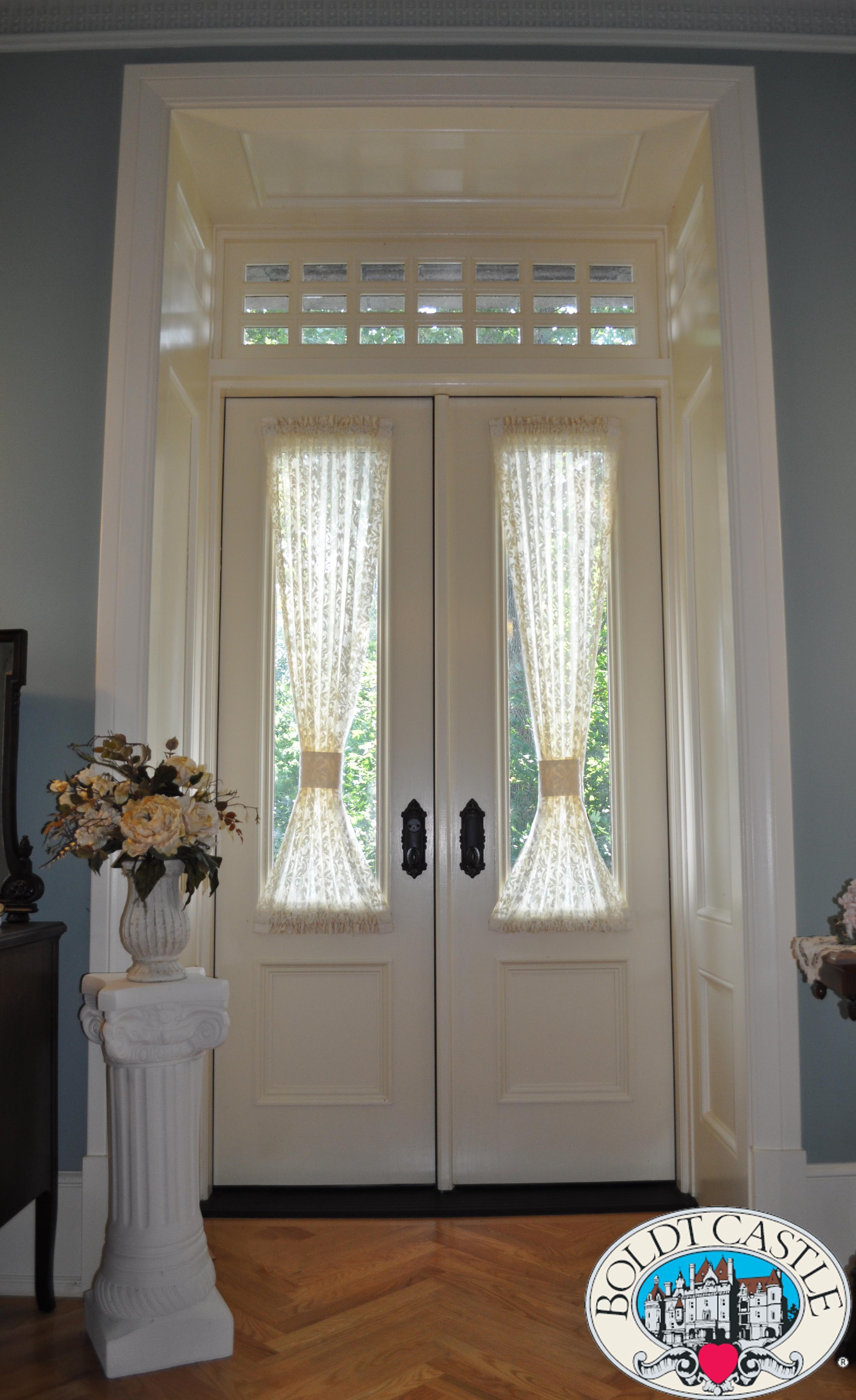 Exterior Glass Panel Double Door With Custom 21 Lite