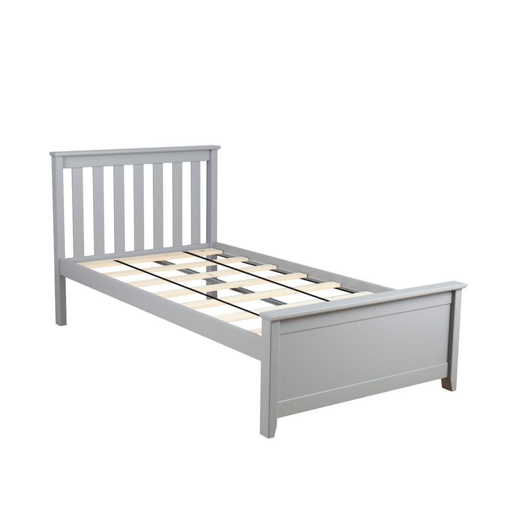 Max Lily Grey Twin Single Bed 180210 121 Twin Platform Bed