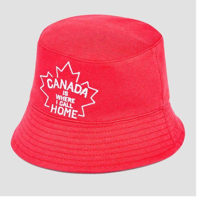 1556aadb635 Baby Newborn Canada Bucket Hat  photo Canuck ready