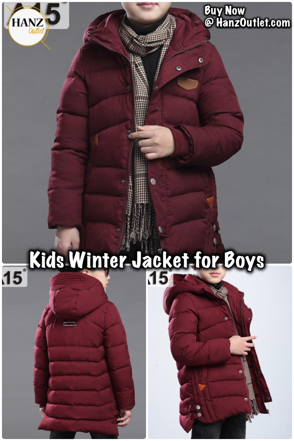 dec22a9309be Kids Winter Jacket for Boys Clothes 2018 Teenage Boys Clothing ...