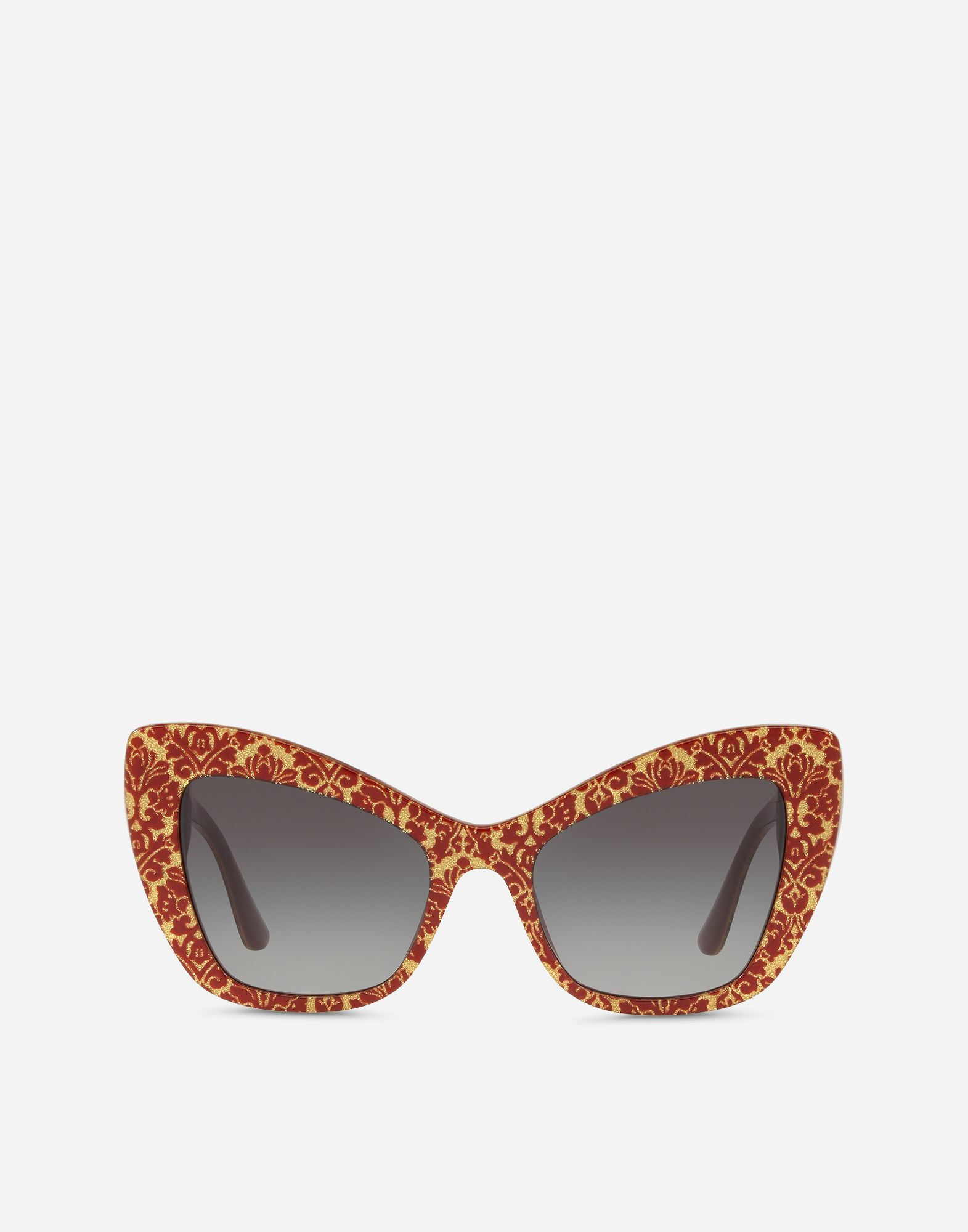 "2fd14c9e82 Dolce   Gabbana CAT-EYE SUNGLASSES IN ACETATE WITH ""CUORE SACRO""  EMBELLISHMENT"