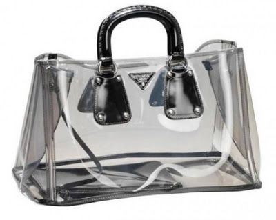 2166e4c324d7 ... hot black prada transparent clear bag 336c2 61258