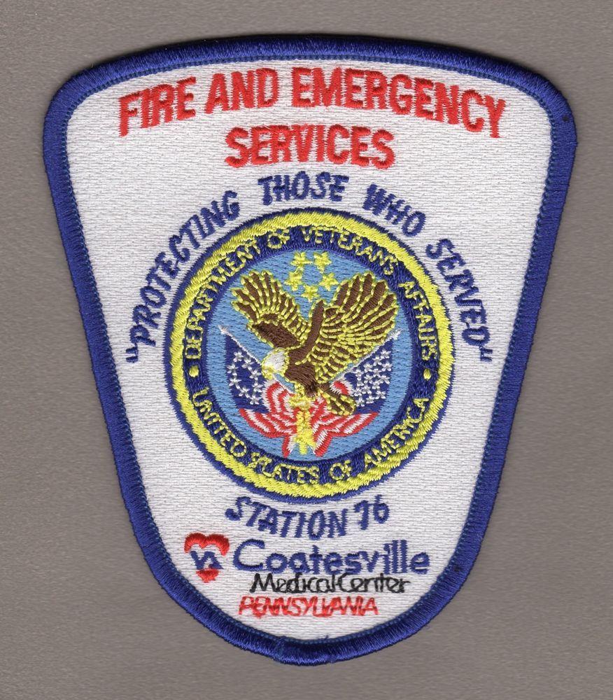 PENNSYLVANIA Coatesville VA Medical Center Fire Patch