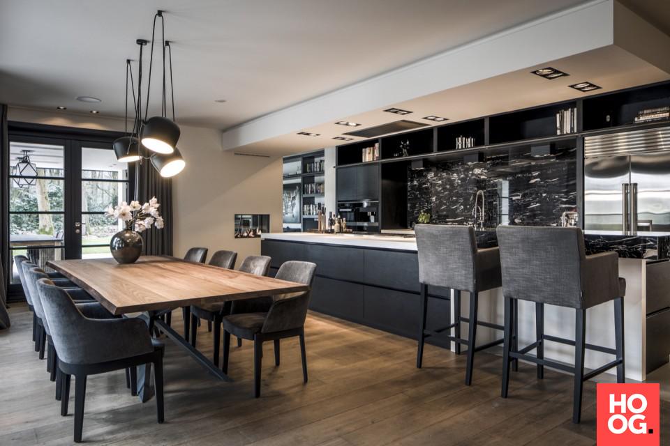 Modern interieur met keuken design en luxe eettafel ideeën huis