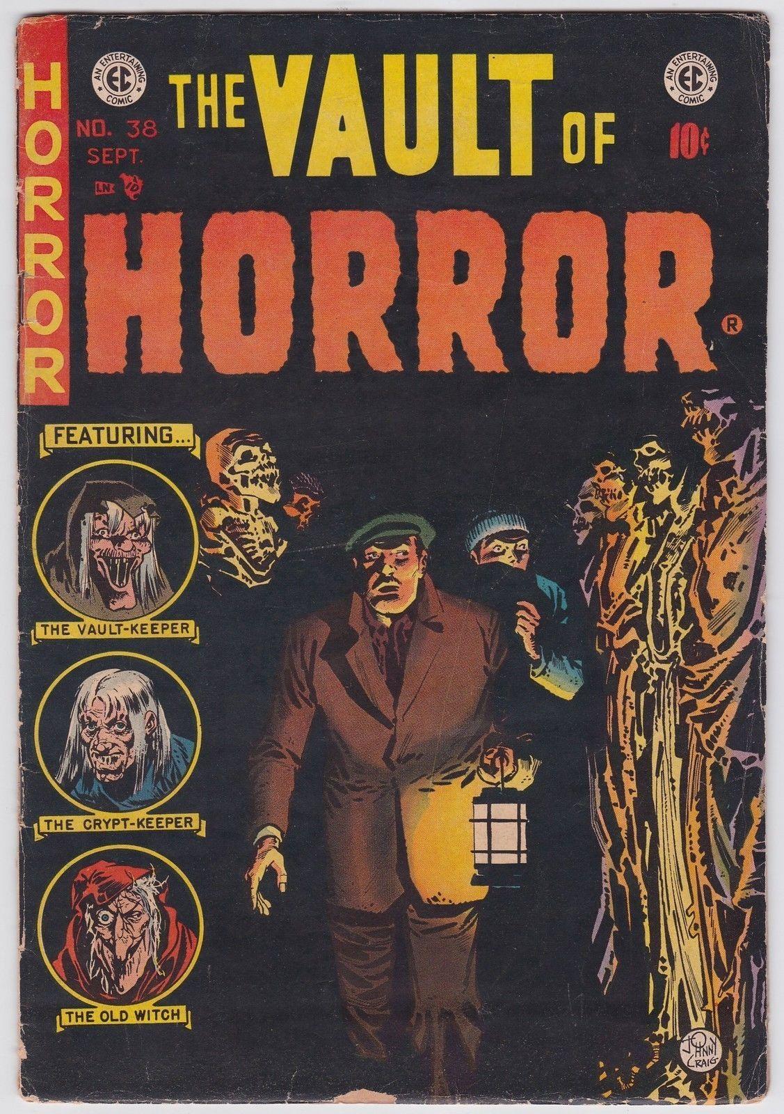 vault of horror 38 vg 3 5 ec pre code horror johnny craig art 1954