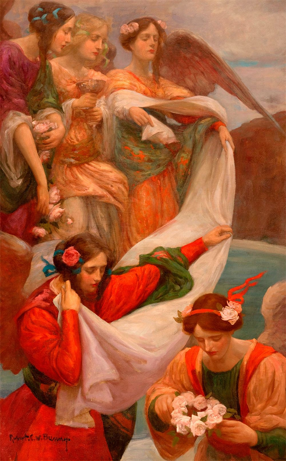 """Angels Descending,"" by Rupert Bunny (c1897)"