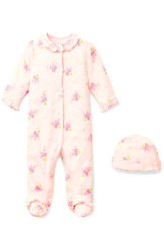 8af4552fa29d Little Me Newborn Baby Girls Footie Pajama Sleeper (6 Months