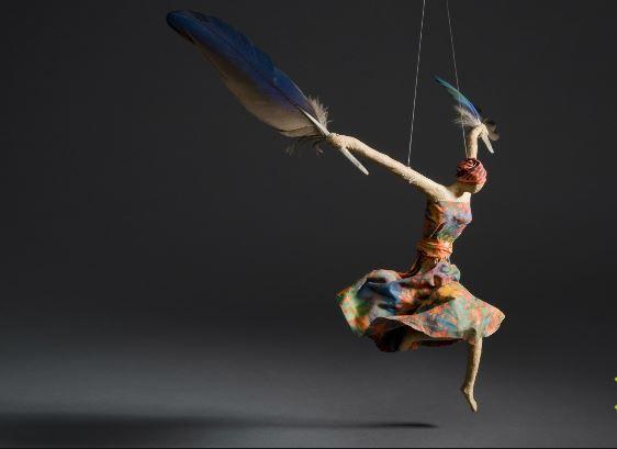 a #whimsical paper mache mobile by Sarena Mann