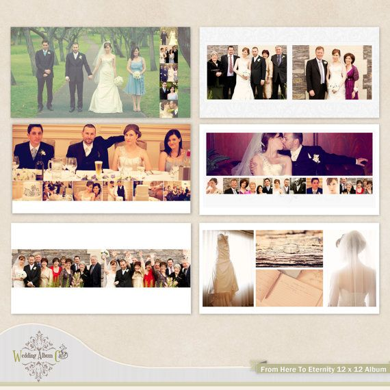 Wedding Album Template For Photographers By Weddingalbumcafe 35 00 Wedding Album Layout Wedding Album Templates Wedding Album