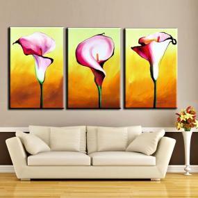 Quadri con fiori di calla dipinti a mano olio su tela 30 for Dipinti ad olio fiori