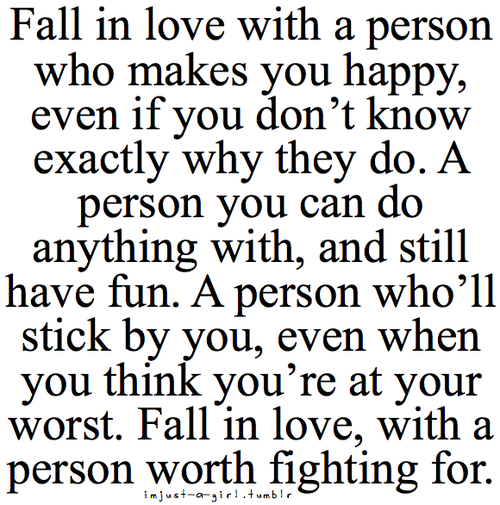 fight for the person you love