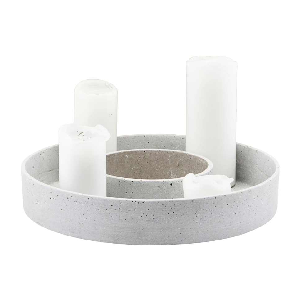 The Ring candle holder for block candles-concrete