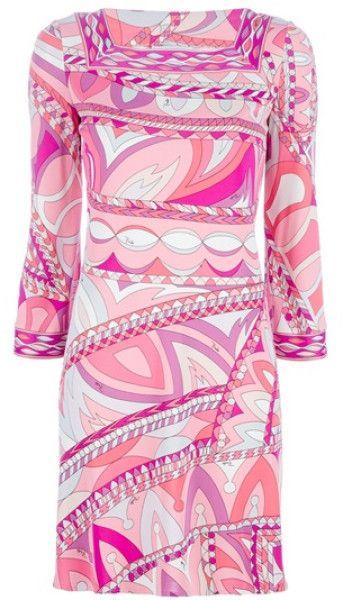 emilio-pucci-pink-printed-dress