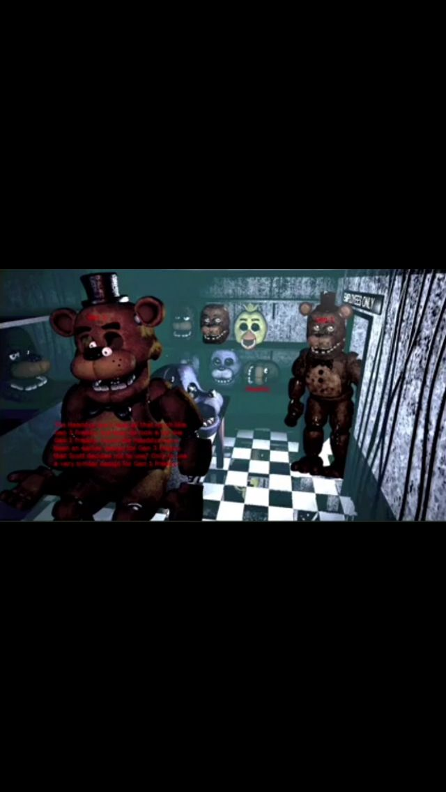 Old Freddy face in FNaF 1 | Nerd palace | Fnaf, Five nights