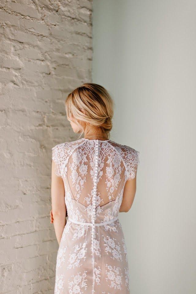 b1e1236dfb7 Rue de seine wedding dress with buttons down the back