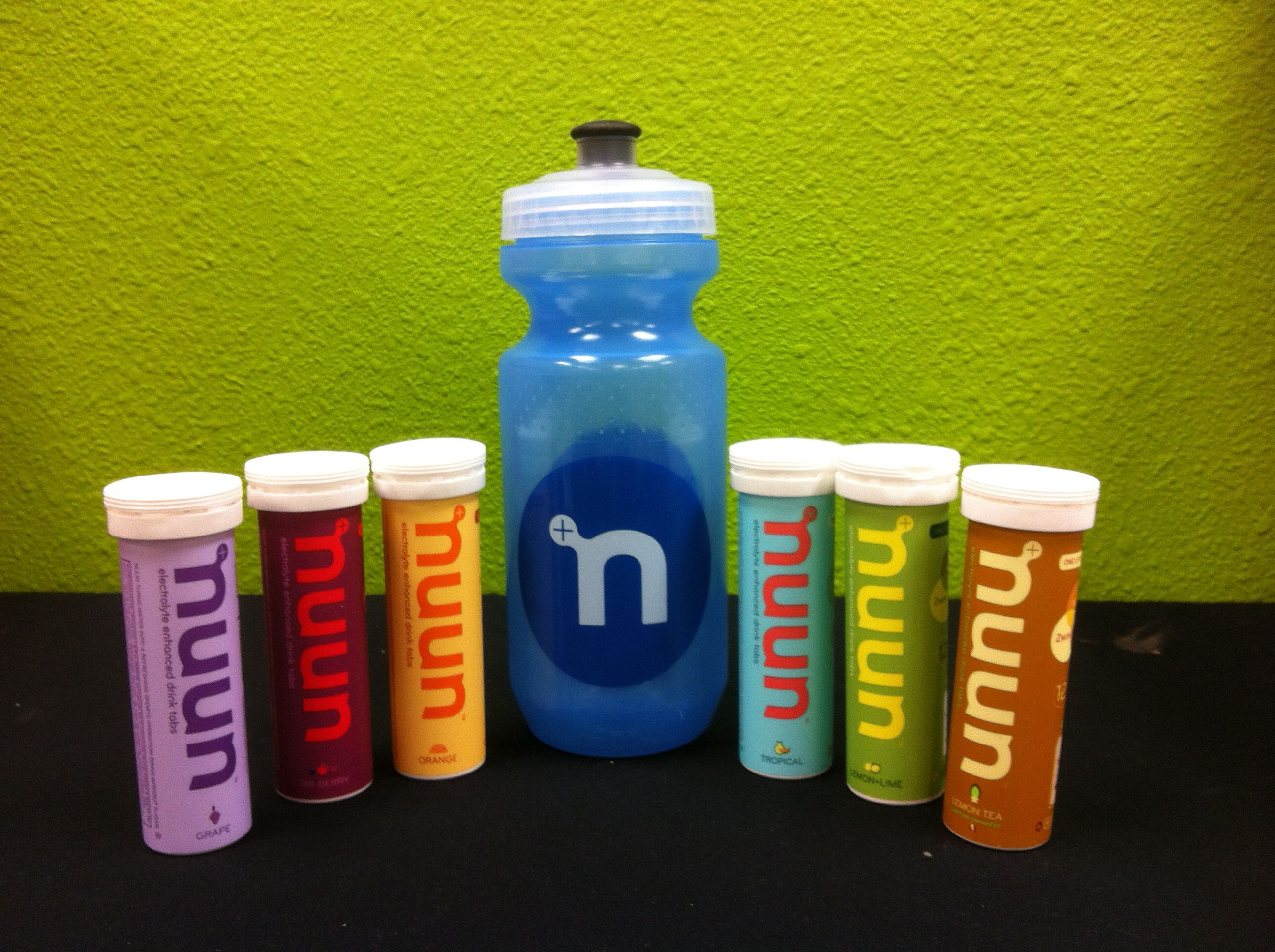 Replenish electrolytes with Nuun! Delicious flavors such as Strawberry Lemonade, Fruit Punch, Tropical, Lemon Tea, & many more!  -Sugar free & less than 6 calories