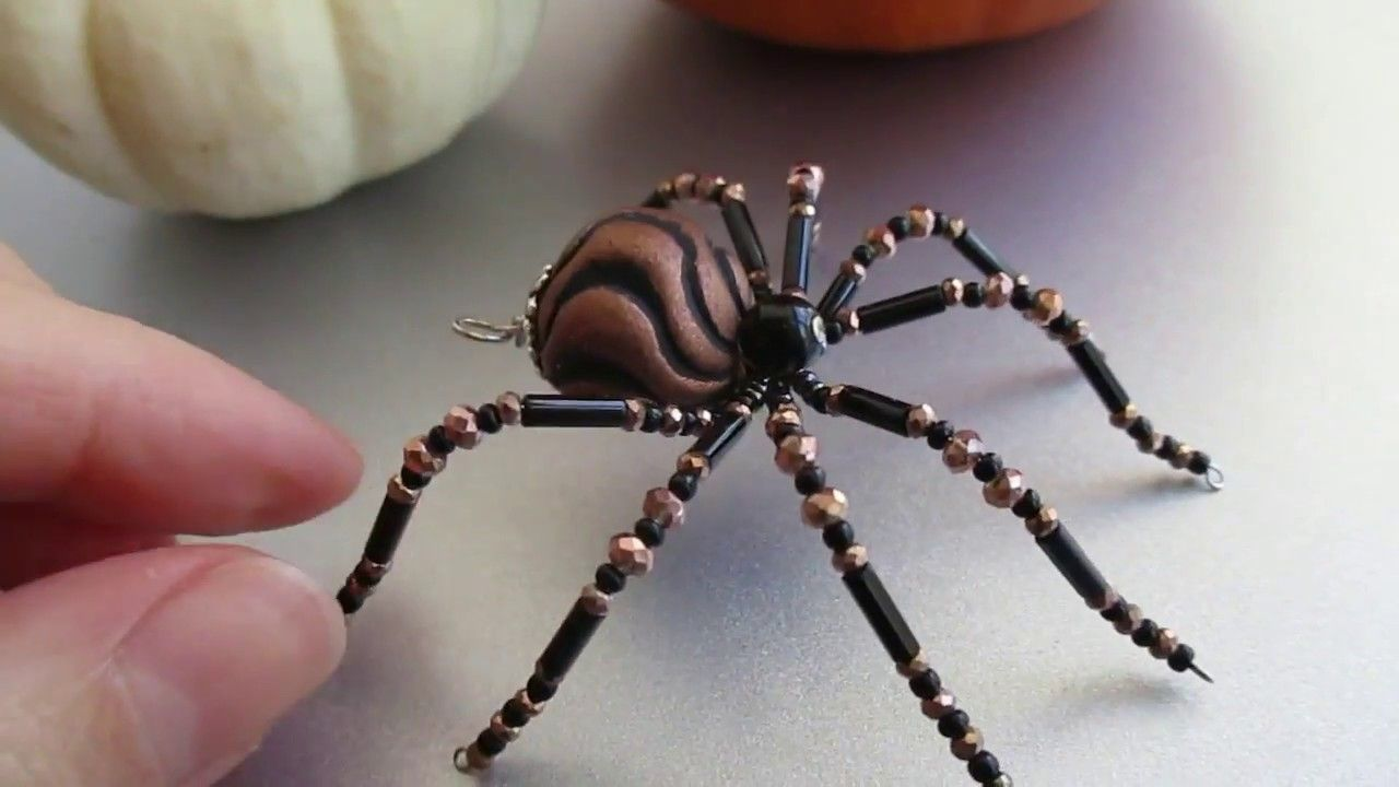 Beaded Christmas Spider of the week | Beaded bugs | Pinterest ...