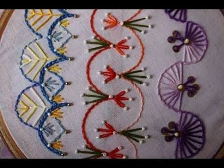 Image result for simple embroidery flowers