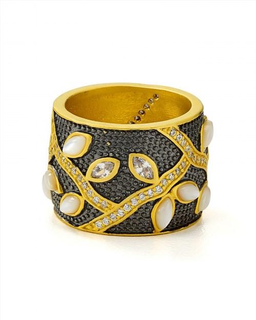 225.00$  Buy now - http://viucp.justgood.pw/vig/item.php?t=bvxnpvs20622 - Freida Rothman Fleur Bloom Petal Band Ring