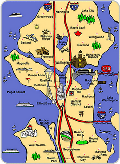 Seattle Attractions Map Seattle map with attractionsEscala, Grey Inc.??? ;) | Vacation  Seattle Attractions Map