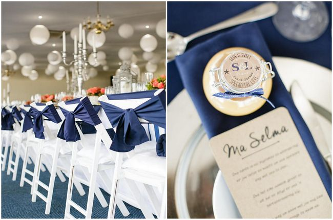 Nautical Beach Wedding In Coral And Navy Jack And Jane