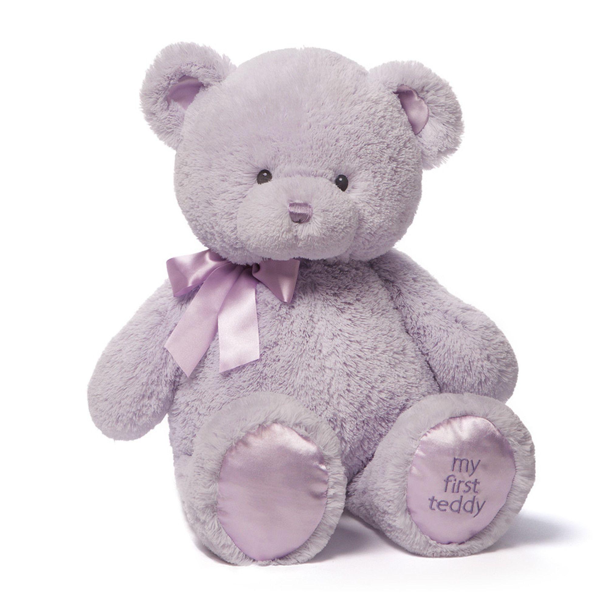 Babygund My 1st Teddy Lavender 24 Teddy Bear Stuffed Animal Pink Stuffed Animals Bear Stuffed Animal [ 2000 x 2000 Pixel ]