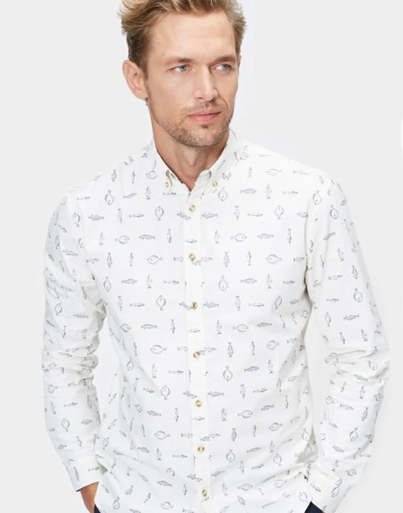 Invitation Painted Fish Multi Slim Fit Shirt | Joules UK