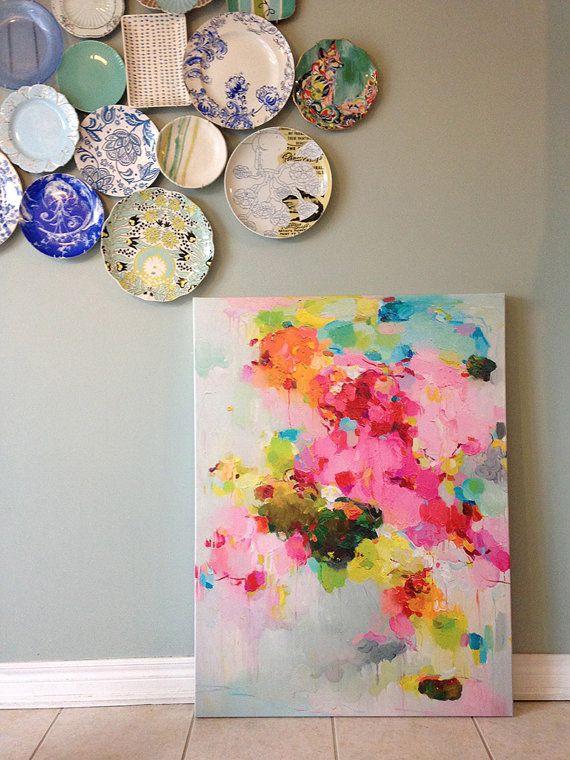 Leinwand Drucke Wolke Druck abstrakte Malerei abstrakte | Etsy