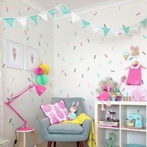 Photo of Polka Dot Shape Wall Stickers Children's Bedroom Kids Nursery Circle Dots Decal
