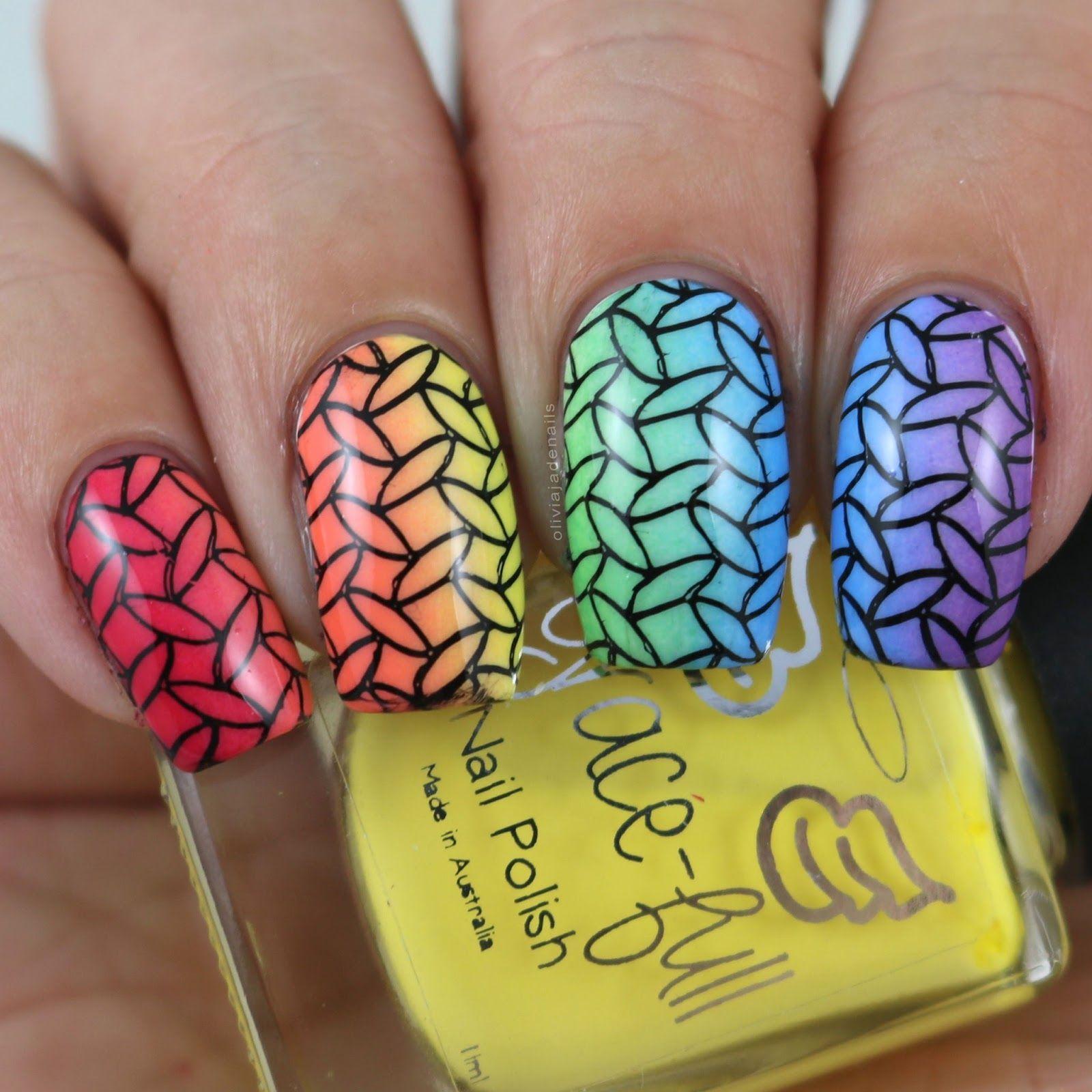 31DC2017: Rainbow Nails by Olivia Jade Nails | Nail polish ...