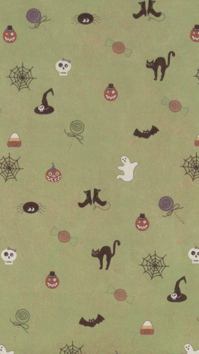 Cute Halloween Pattern iPhone 5 Wallpaper / iPod Wallpaper