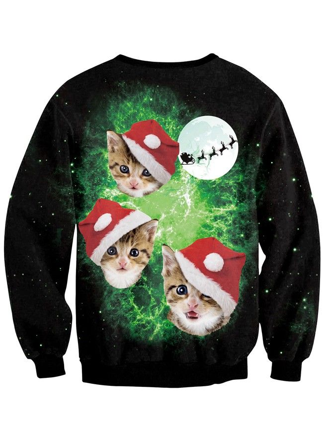 ugly Christmas sweaters, christmas pullover sweatshirt with cute ...