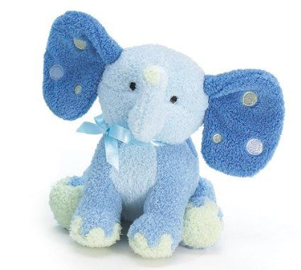 Amazon Com Blue Elephant Plush Rattle With Polka Dot Ears Baby Elephant Plush Baby Plush Toys Personalized Embroidered