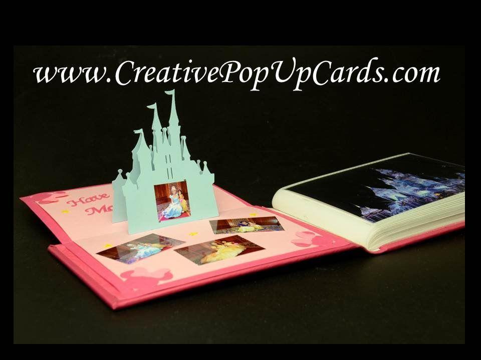 Disney Castle Pop Up Card Youtube Pop Up Card Templates Pop Up Cards Disney Cards