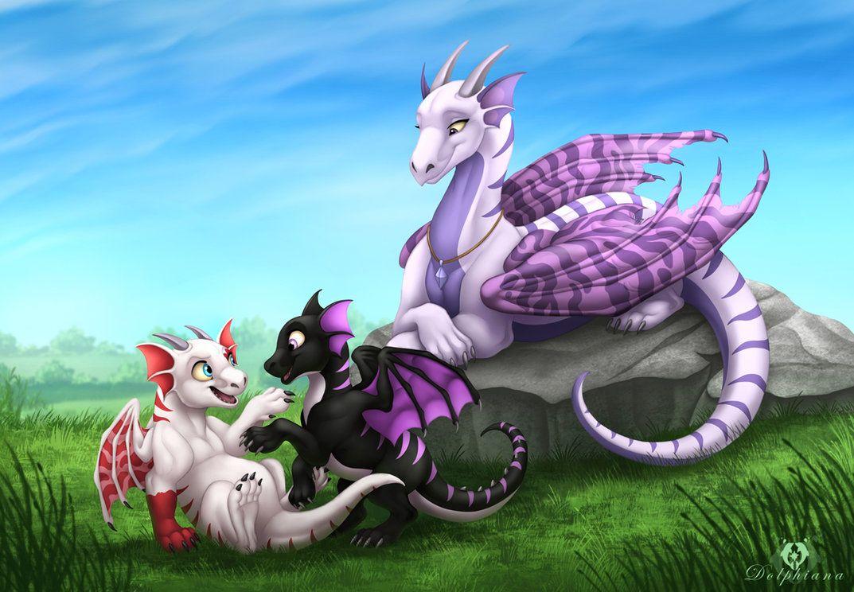 нее можно смотреть самые лучшие красивые и легкие картинки с детенышами драконов появления