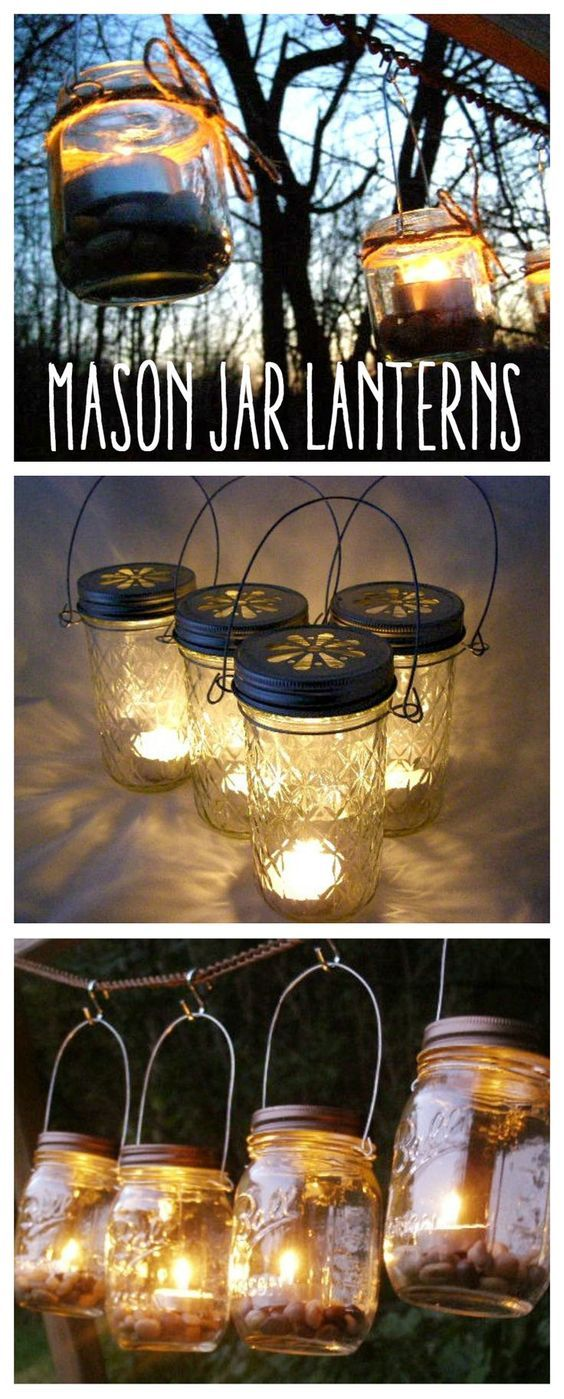 Light up your nights and color your days with these glass lanterns