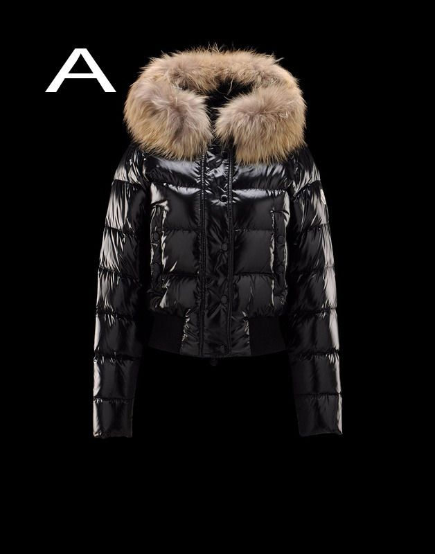 Moncler Alpin Women Detachable Real Fur Collar Hood Jacket Black Hot Sale f938774a36c