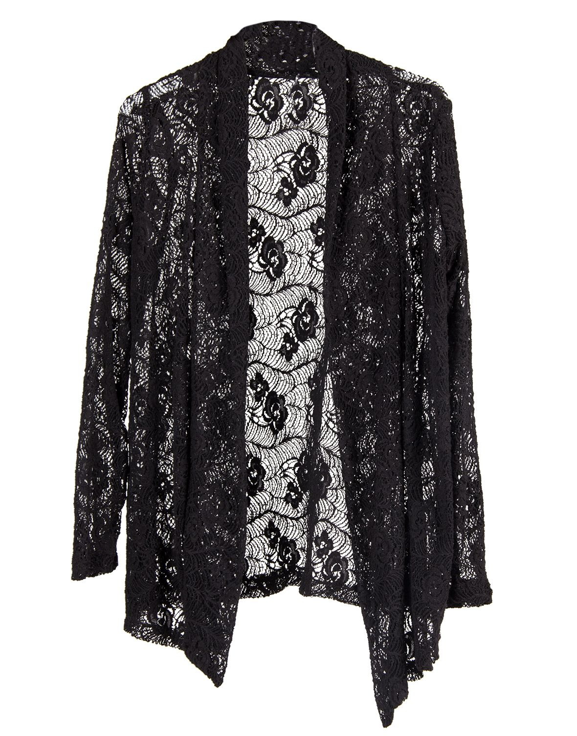 Long Sleeved Lace Cardigan - Black | 2020ave | #NEWOnTheAVE ...
