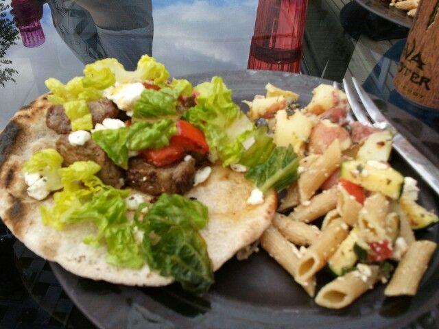 Steak gyros with pasta!