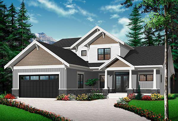W3723-DJG - Plan de maison permettant des panneaux solaires au toit