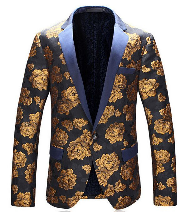 876819b03c Spring autumn Flower blazer mens for suits short coat new arrival blazers  long sleeve top quality men business casual british