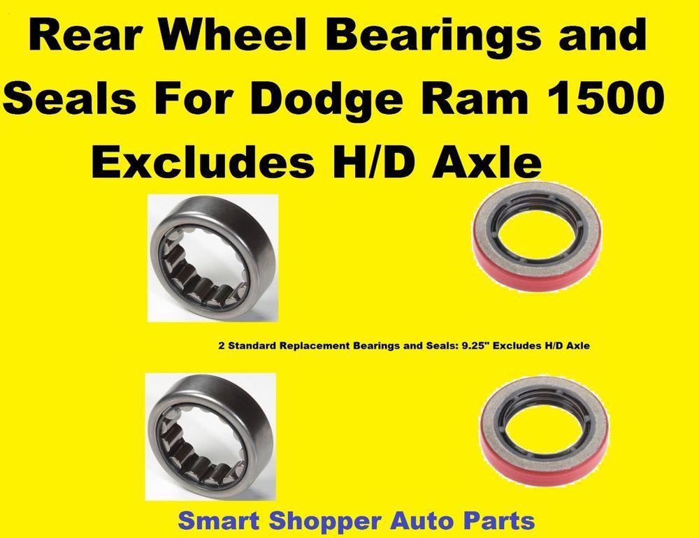 Rear Wheel Bearings And Seals For 1994 2006 Dodge Pickup Ram 1500
