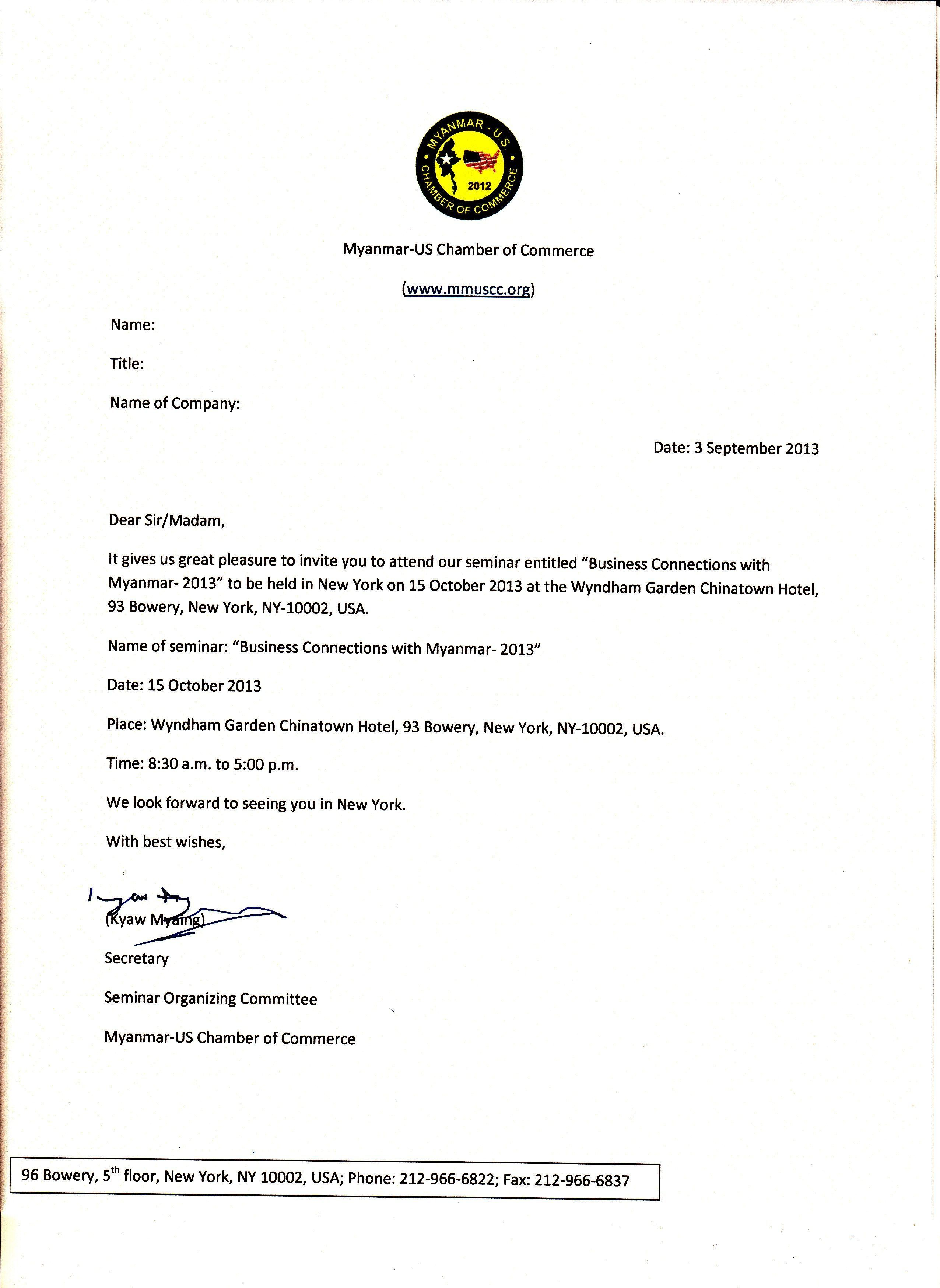 Sample Vip Invitation Letter Event Check more at www