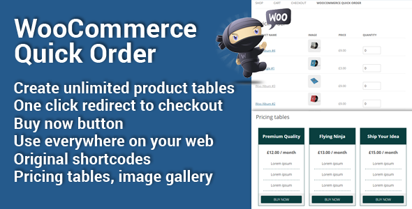 WooCommerce Quick Order by Musilda WooCommerce Quick Order