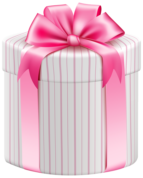 White Striped Gift Box Png Clipart Image Birthday Party Clipart Birthday Clips Clip Art