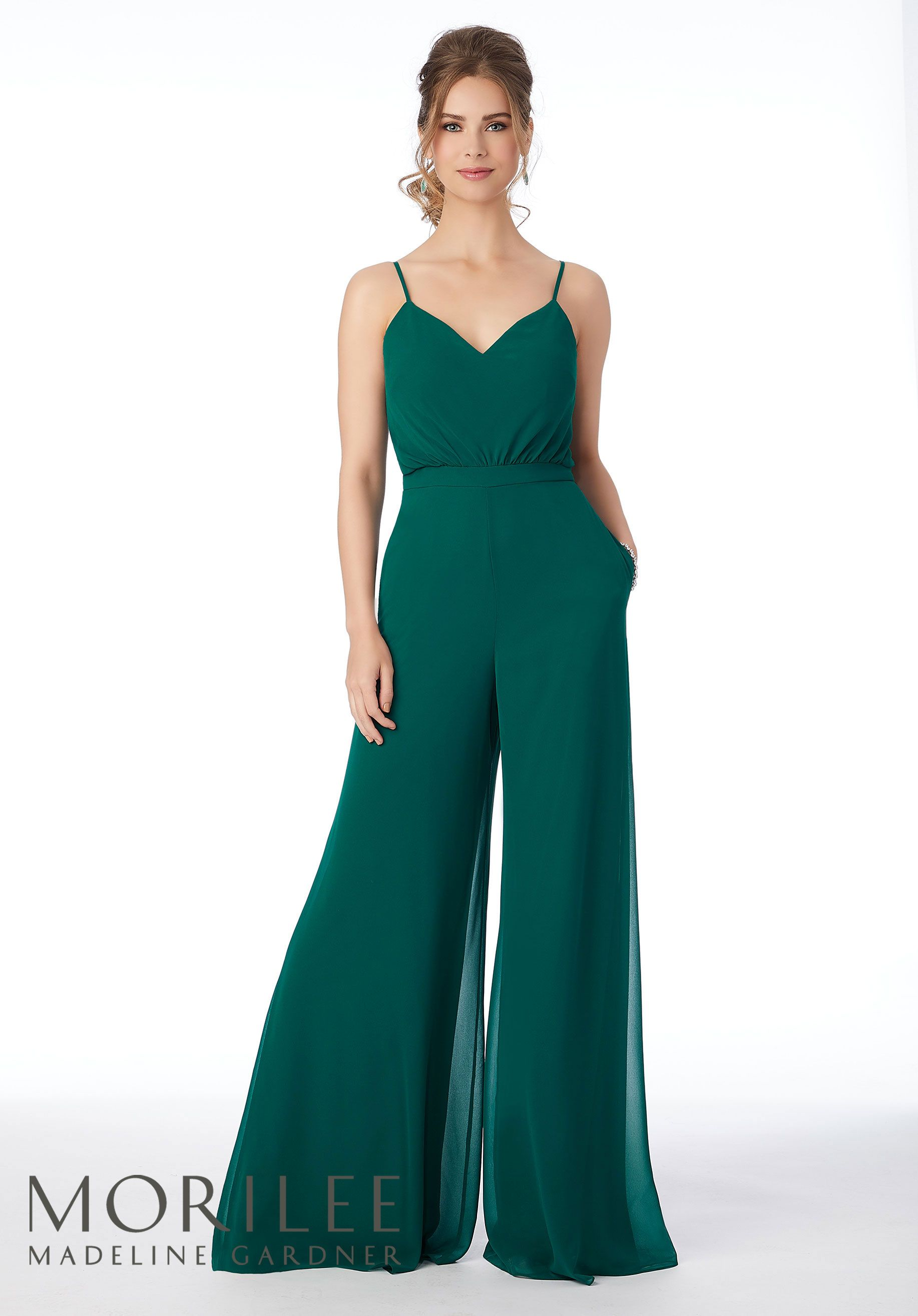 Chiffon Bridesmaid Jumpsuit, Style 21690